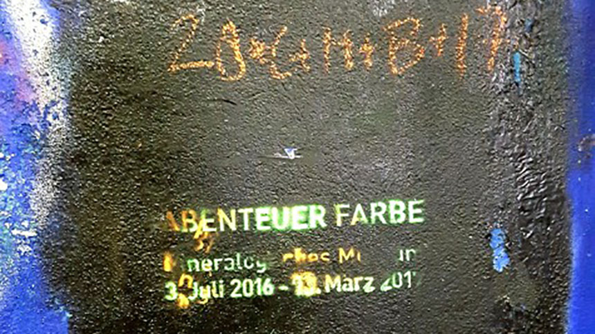 Abenteuer Farbe (Biblical Magi on the wall of an underpass at University of Würzburg)