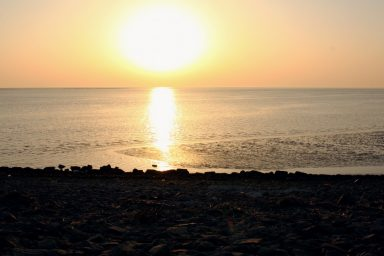 Sunset over the North Sea