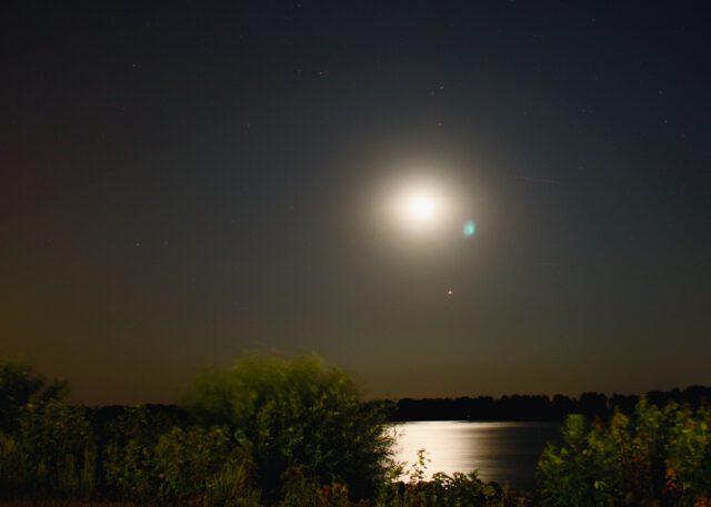 Mondfinsternis lunar eclipse Elbe