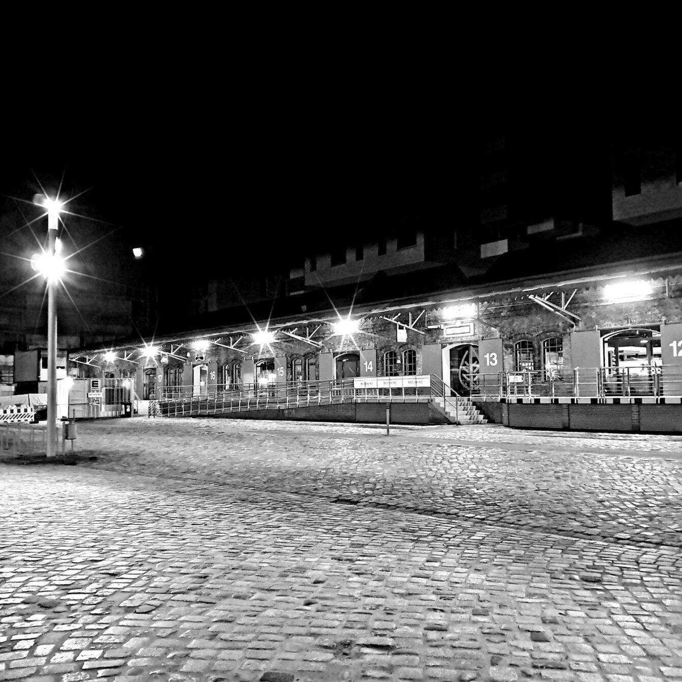 Empty parking lot, Hamburg-Altona